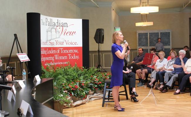 Carly Fiorina speaks in Spartanburg